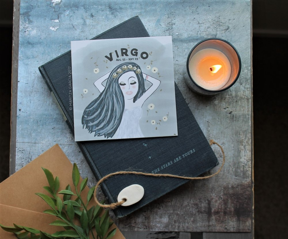Virgo at Rest Birthday Card | www.maritzagarcia.website