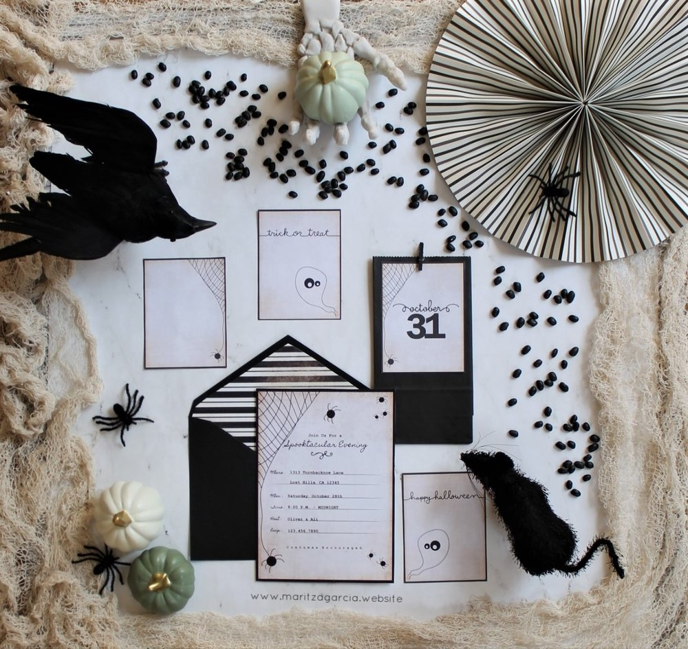 How To Create Halloween Invitations Using Your Silhouette Cameo | www.maritzagarcia.website