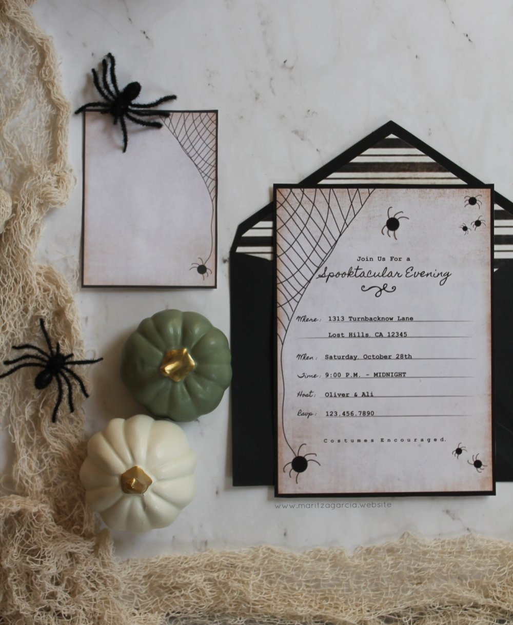 How To Create Halloween Invitation Using Your Silhouette Cameo | www.maritzagarcia.website
