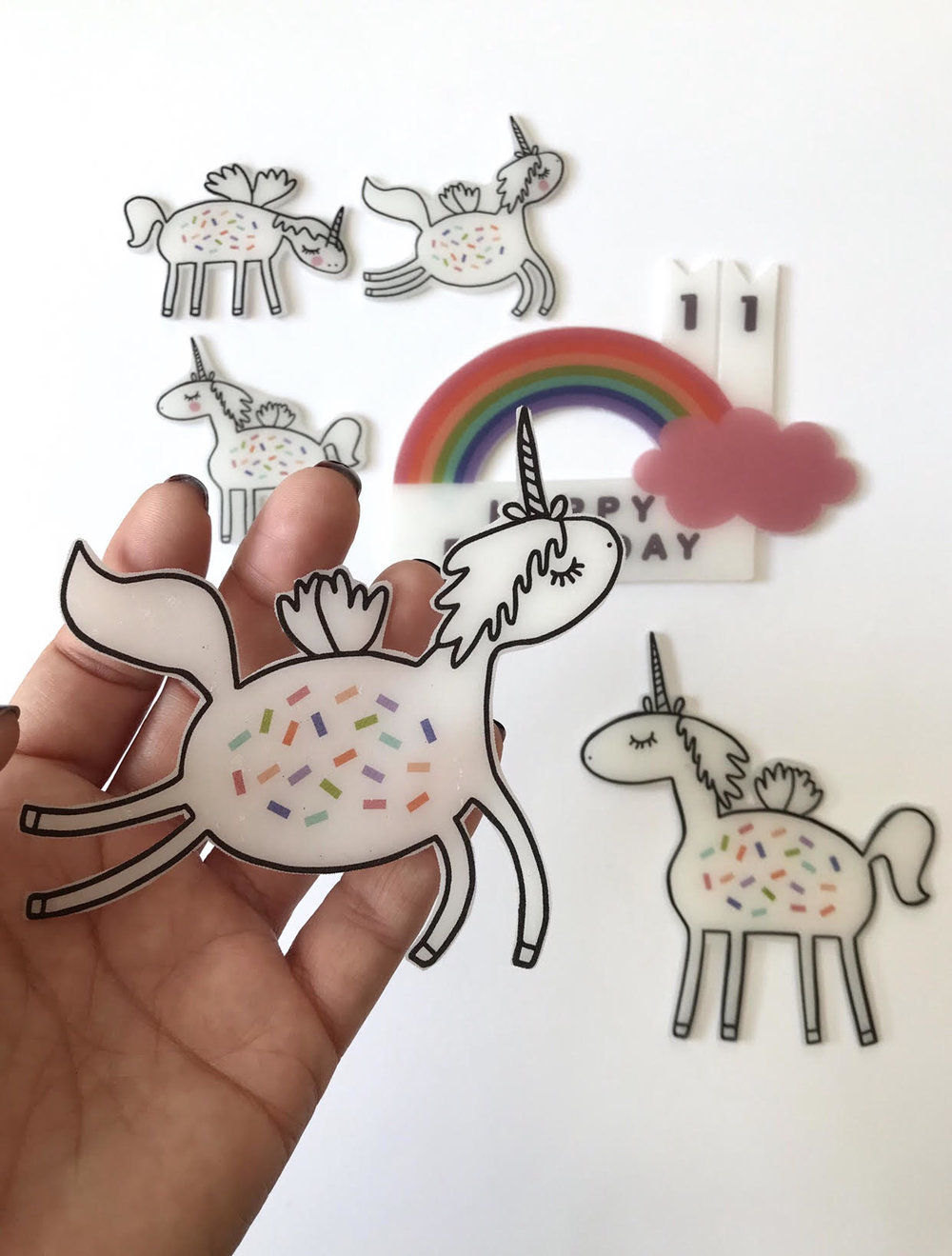 DIY Shrinkable Cake Toppers
