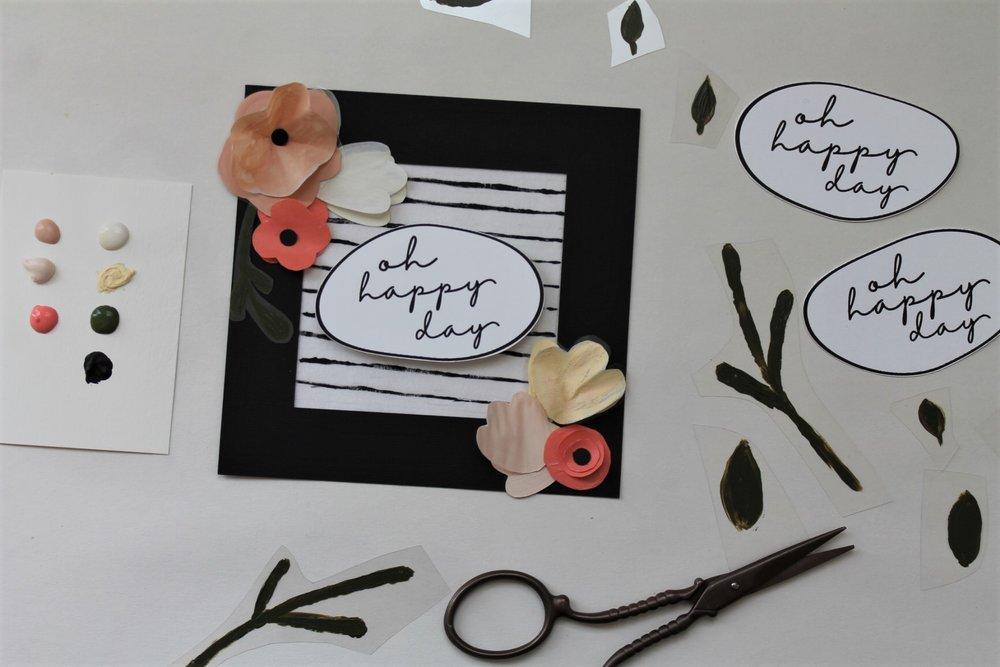 DIY Craft Plastic + Vellum Paper Greeting Cards | www.maritzagarcia.website