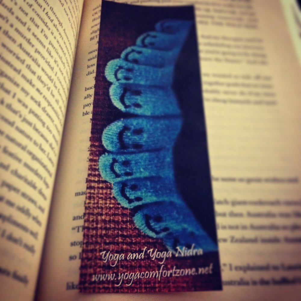 Yoga Comfort Zone bookmark/business card :)
