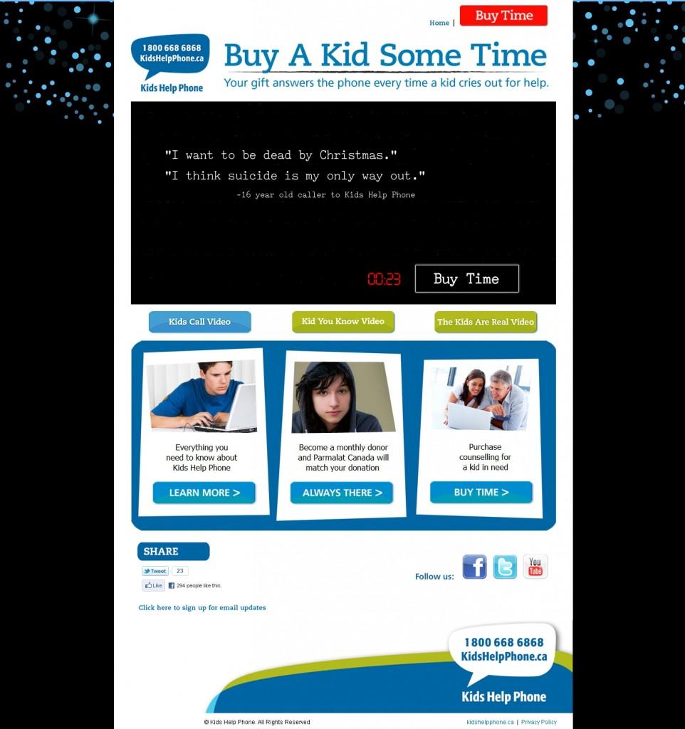 Kids Help Phone - Buy A Kid Some Time
