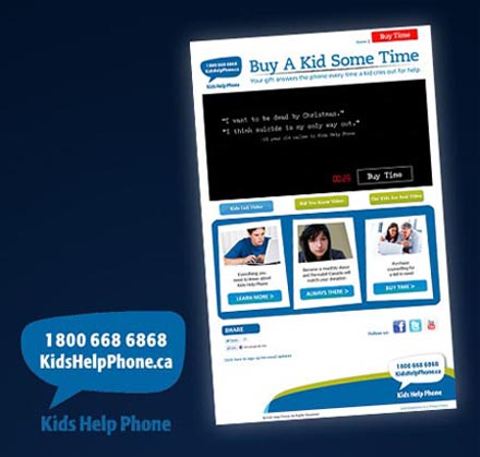 Kids Help Phone - Buy A Kid Some Time