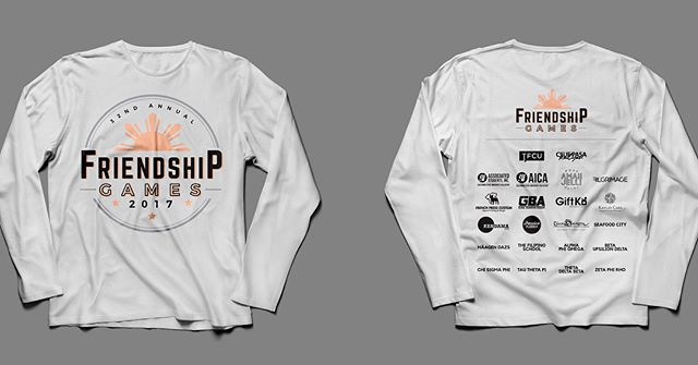 These shirts/long sleeves will be available for purchase on the day of Friendship Games. It will be available at INFO BOOTH. . . Shirts (charcoal grey): $10 Long sleeves (white): $15 . . We accept CASH or Venmo (Venmo account: Christine-DelaPaz). Don't forget to grab your FG32 apparel so you can have a souvenir 😊