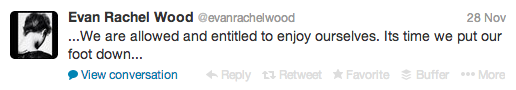 Evan Rachel Wood calling for an end to movies' censorship of women's sexuality