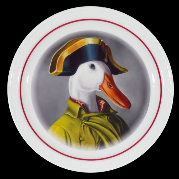 Napoleon on diner plate