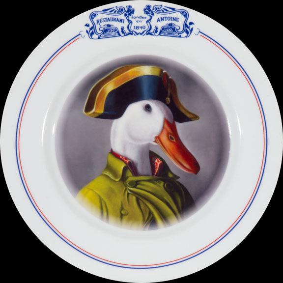 Napoleon on Antoine's plate