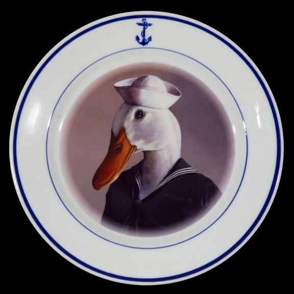 Sailor on Navy plate