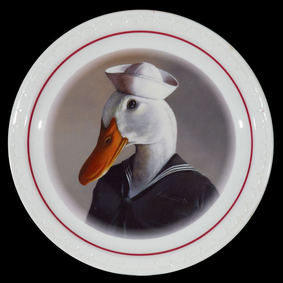 Sailor on diner plate