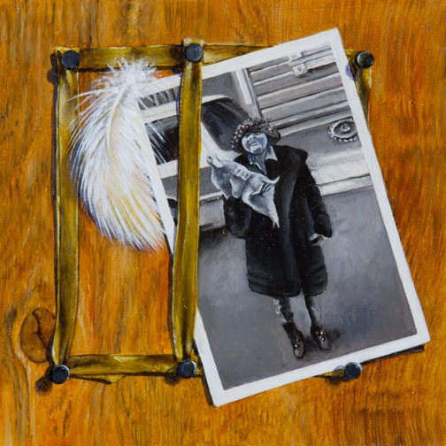 Ruthie and Feather trompe l'oeil