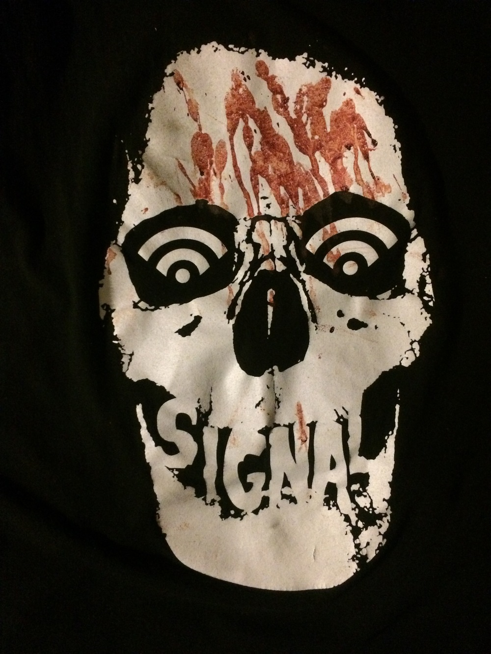 My shirt from that night. People kept asking me if the blood was real or part of my graphic. I think I may have to add blood to this tee for next year....