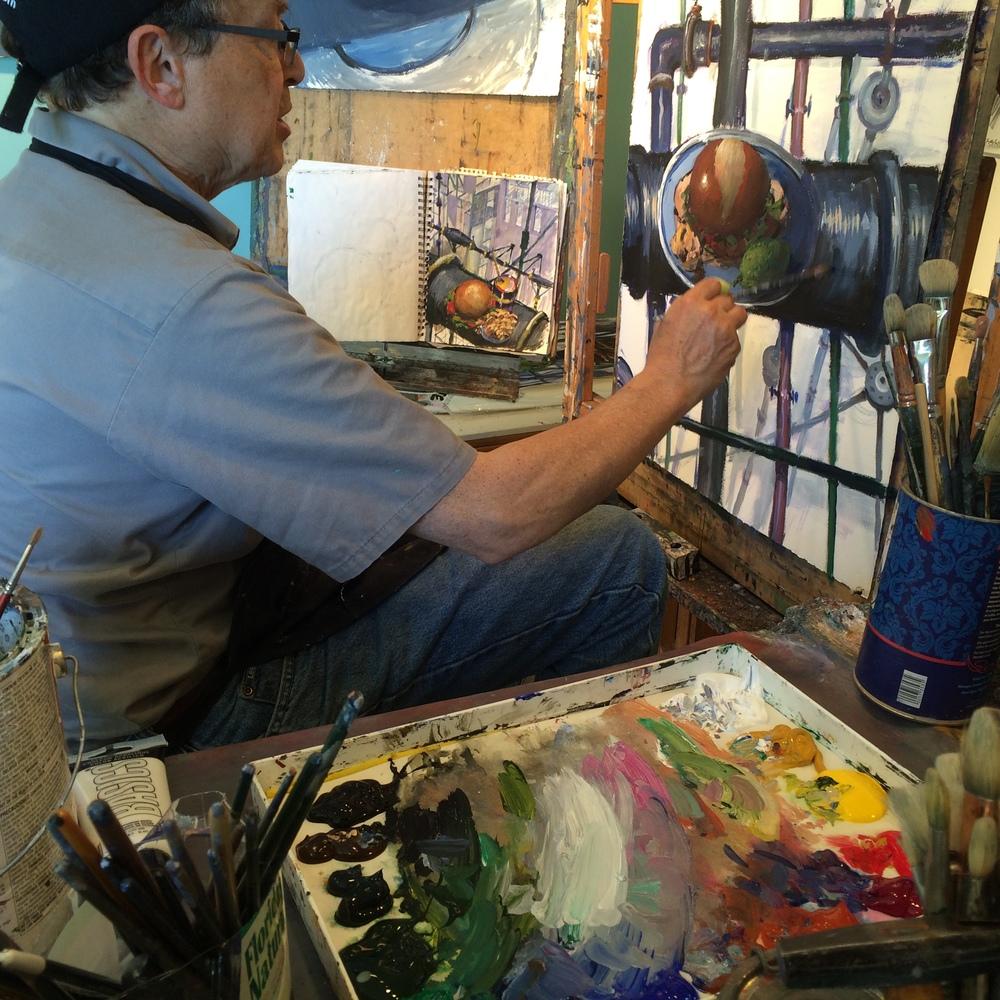 Above: Gary in his studio next door Below: Pics from his website courtesy of the artist
