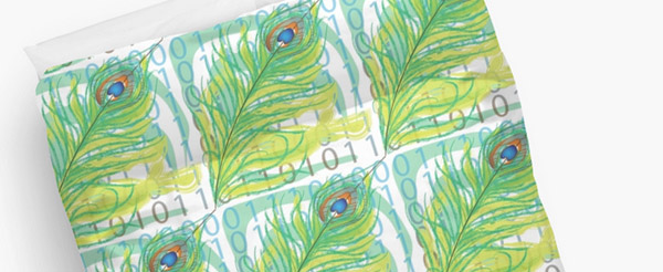 peacock peitto / duvet from 75 Eur