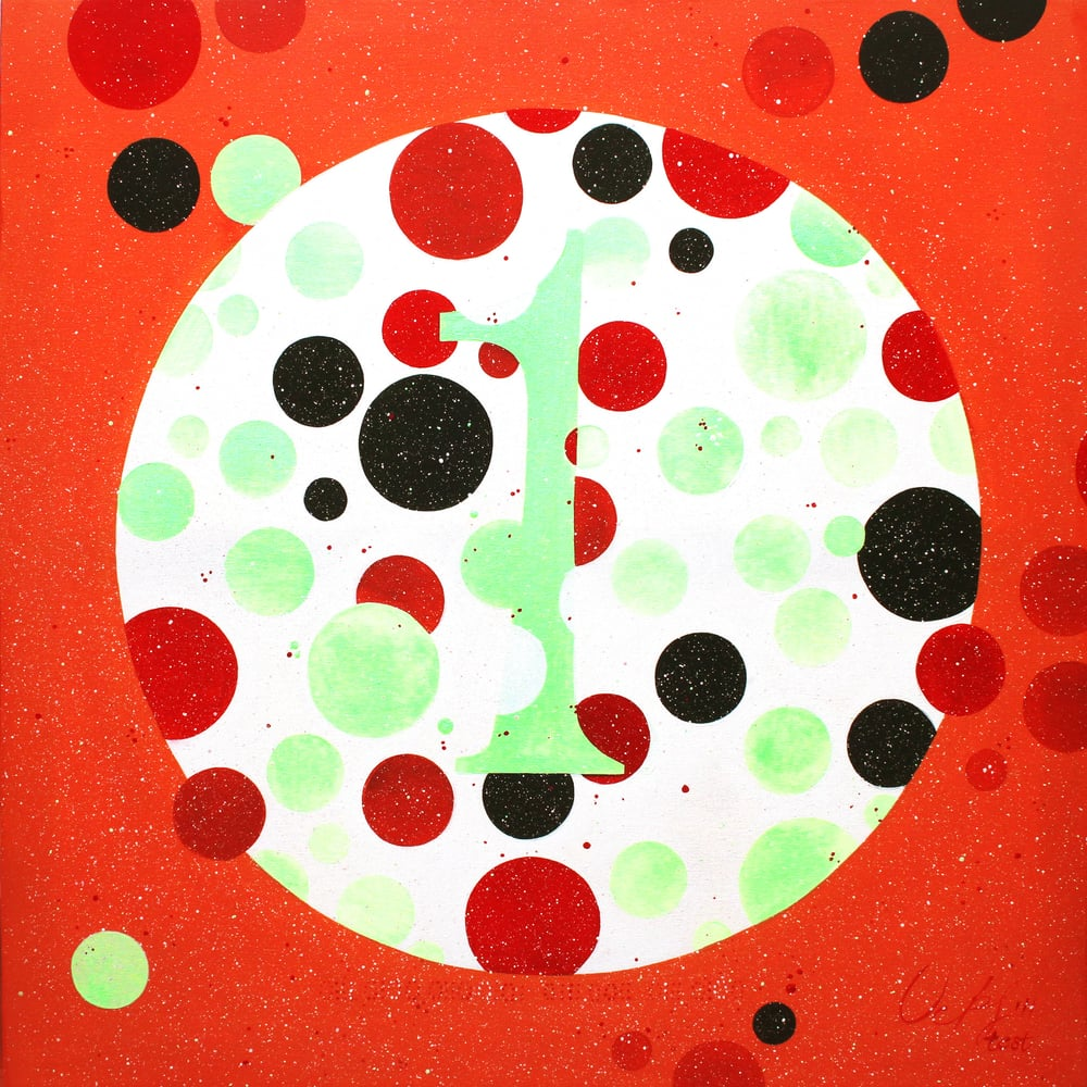 test dot painting (with binary code)