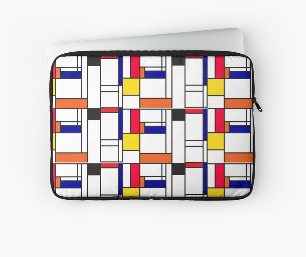 Mondrian inspired maze laptop sleeves