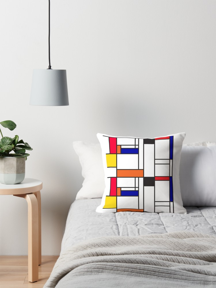 Mondrian inspired maze pillows