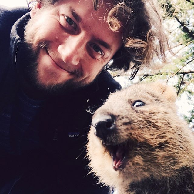 selfie training with a pro 📸 #quokkalicious #blossomworldtour