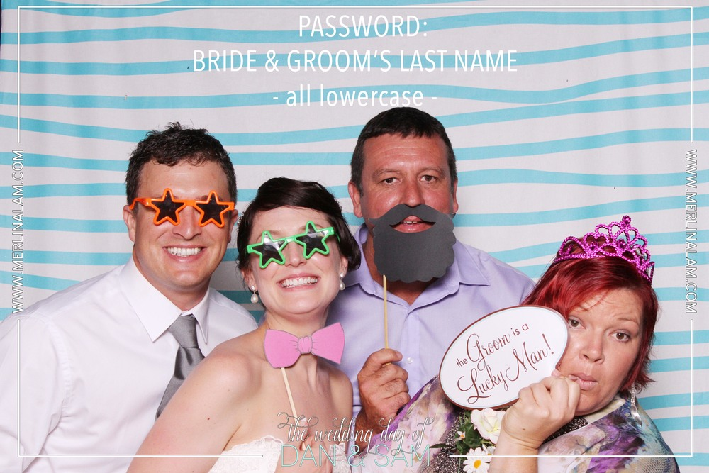 Dan & Sam's Wedding Password: Bride & Groom's Last Name - all lowercase -