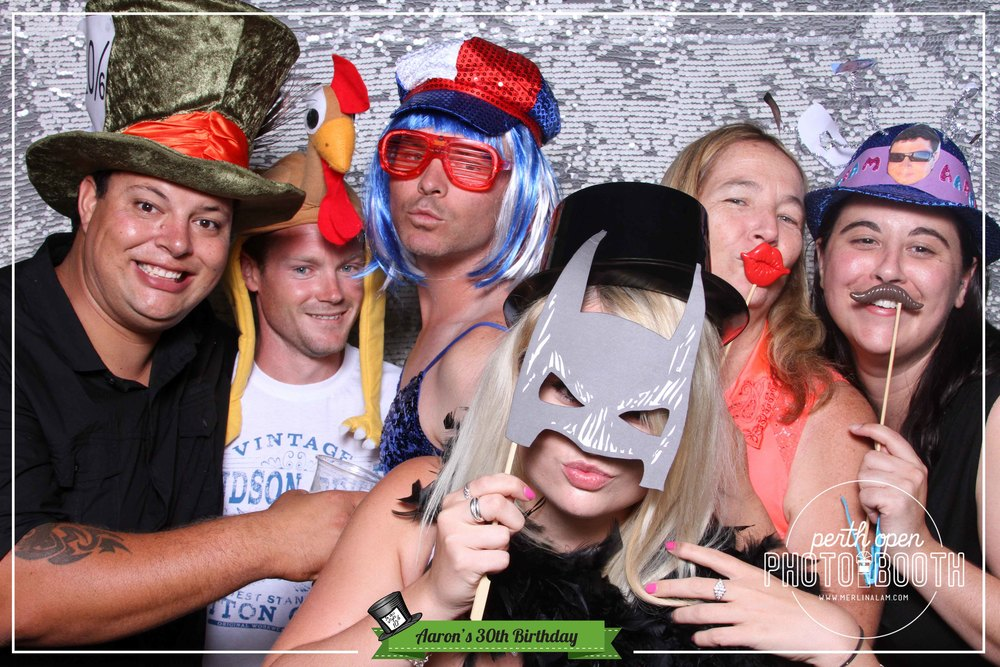 Aaron's Mad Hatter 30th Birthday Password: Provided on the night - all lowercase -