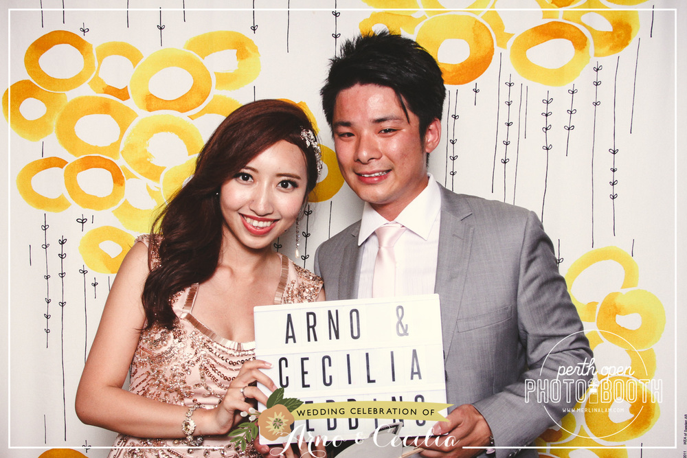 Arno & Cecilia's Wedding Reception Password: Provided on the night - all lowercase -