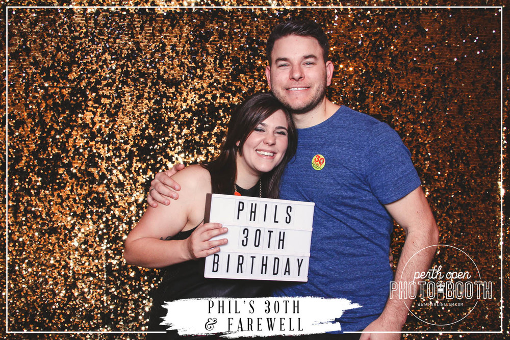 Phil's 30th Birthday & Farewell Party   Password: Provided on the night   - all lowercase -
