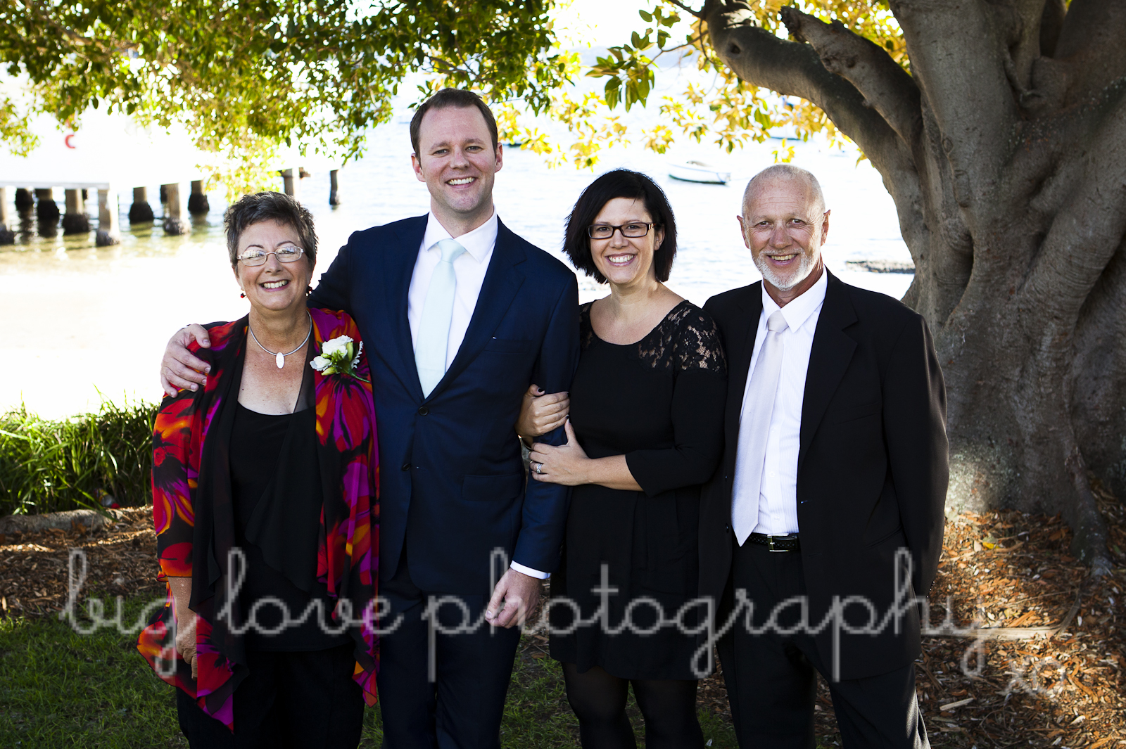 groom with family