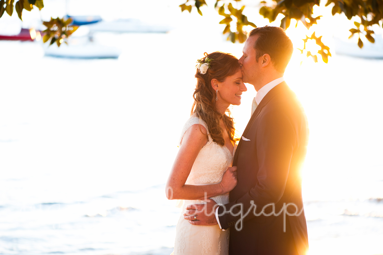 stylised bride and groom photos in beautiful golden light