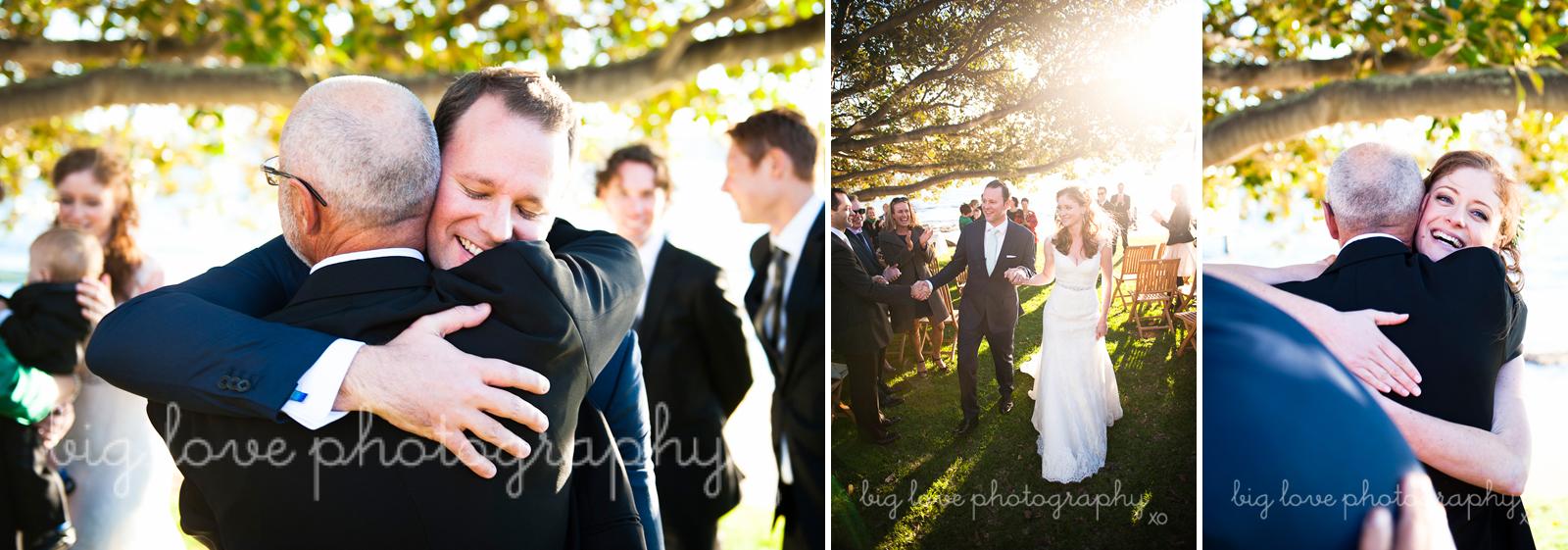 wedding hugs and kisses
