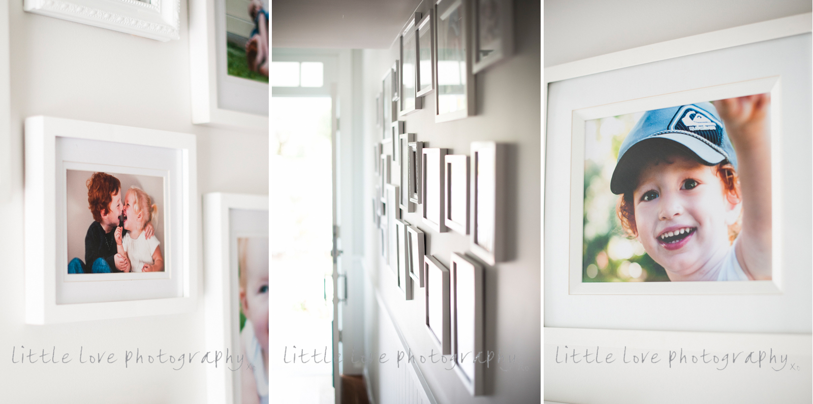 beautiful-image-of-family-photos-displayed-in-client's-house-by-little-love-photography