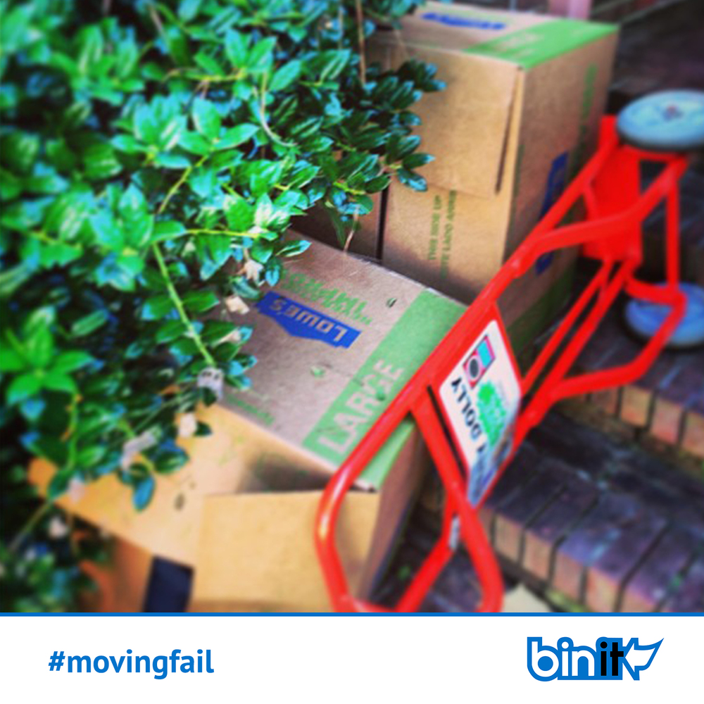 Weekly recurring #movingfail Facebook posts that anyone who has ever moved can relate to.