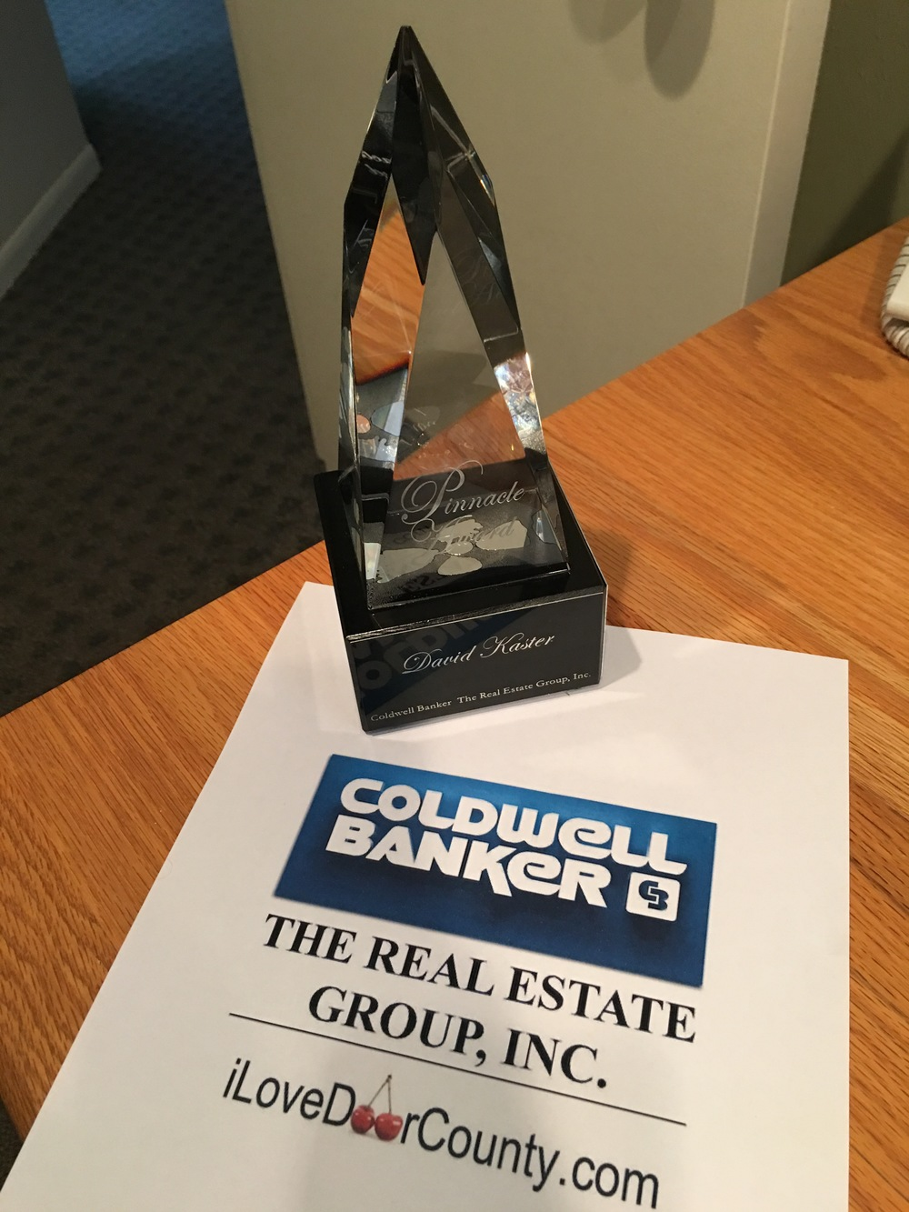Coldwell Banker Pinnacle Award Winner!