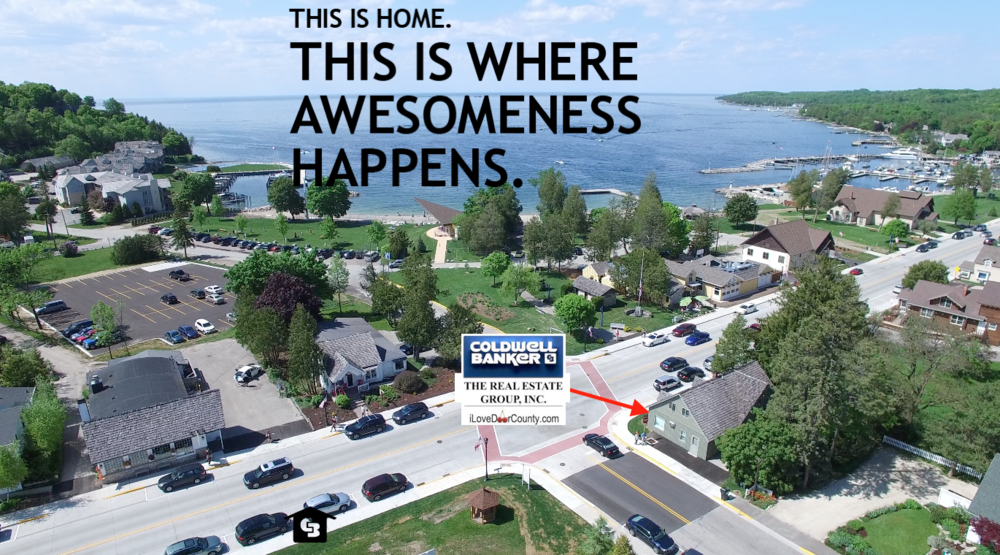 Awesome Aerial iLoveDoorCounty.com office.png