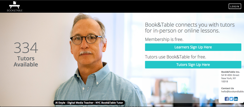 Visit www.bookandtable.com today to signup!