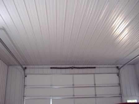 This is a 24' x 30' one car garage with a full liner and blown insulation in the ceiling and batten insulation in the walls