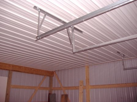 This is a 32' x 24' x 10' two car garage that has a full liner with insulation