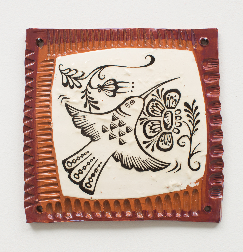 Slip transfer tile, Reneé Ledesma