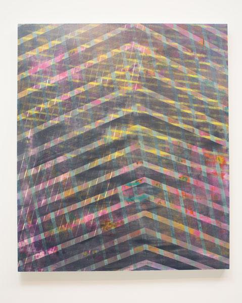 Danny Sullivan, V-Hold, mixed media, 38 1/2x 45
