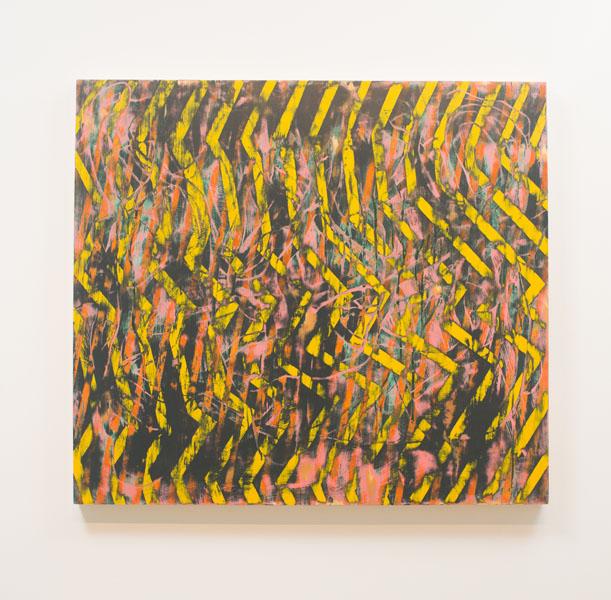 Danny Sullivan, Asphalt, mixed media, 45x40 1/2