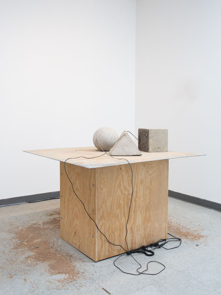 Danny Sullivan, Let's Make a Mountain  Steel, concrete, wood, microphones and speaker