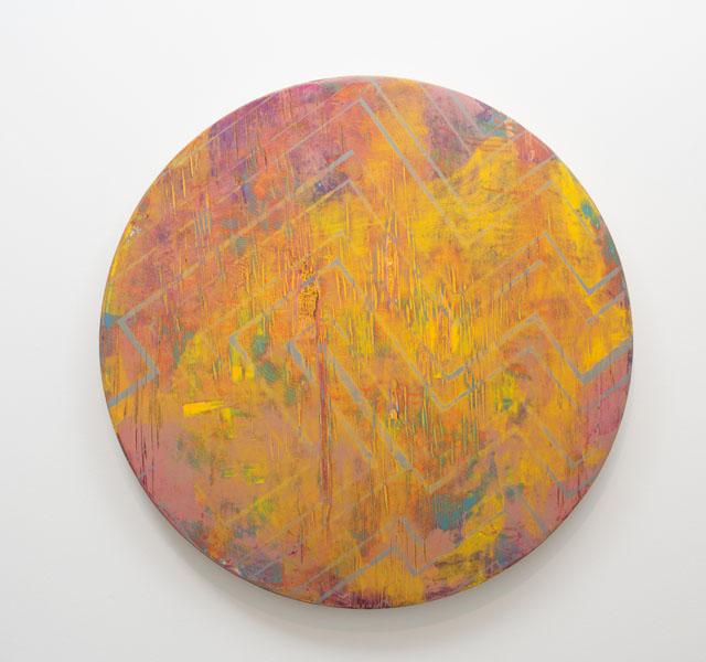 Danny Sullivan, Talesto, mixed media, 29 1/2 diameter