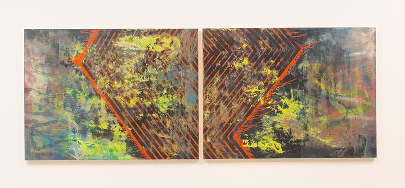 Danny Sullivan, Ziggurat, mixed media, 94 1/2 x 35 1/2