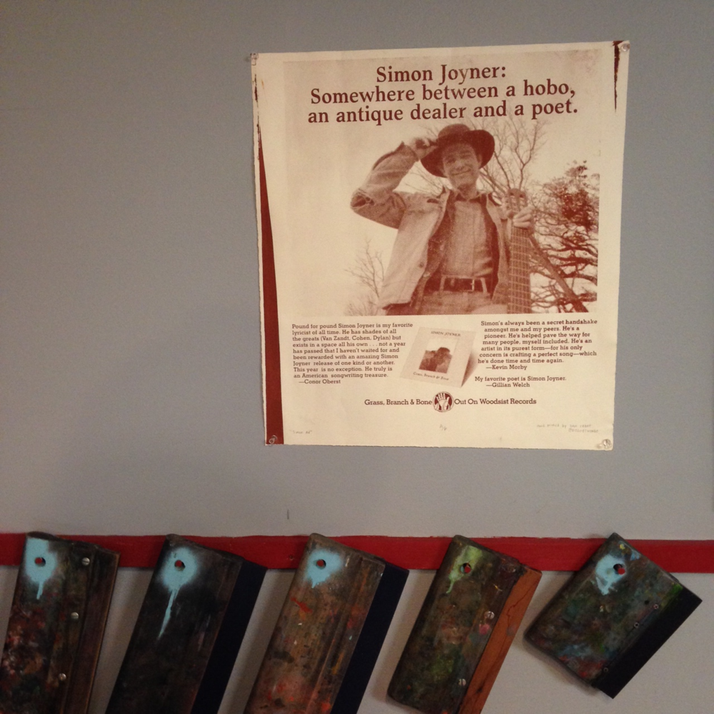 New Squeegee rack and a sweet Simon Joyner poster printed by member Dan Crane