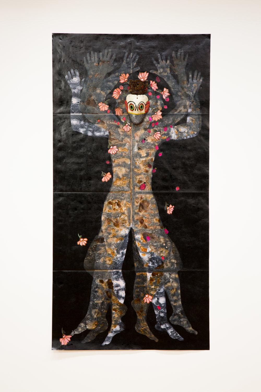Nancy Friedemann-Sánchez.  China Cambuja  , 2017. Mopa mopa, tyvek and readymade