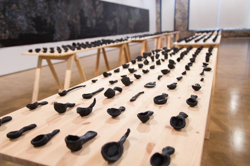 Nancy Friedemann-Sánchez. Installation shot of   Crisoles  .
