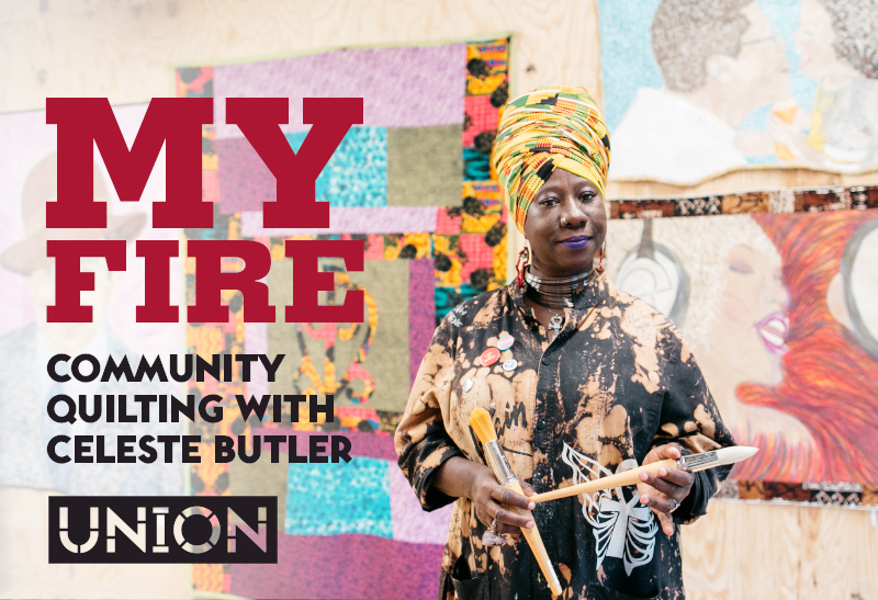 November 7 & 14, 2017, 7pm My Fire  :   Community Quilting  with Celeste Butler