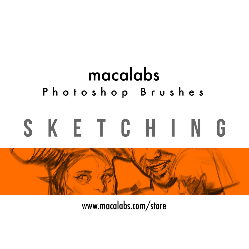 MACALABS_Sketching Photoshop Brushes