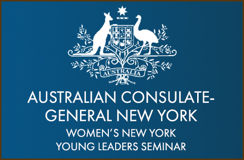 Featured at the Australian Consulate-General New York's Women's NY Young Leaders Seminar