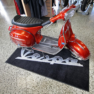 Vespa Bike Garage Mat - AF1-Vespa Bike Mat