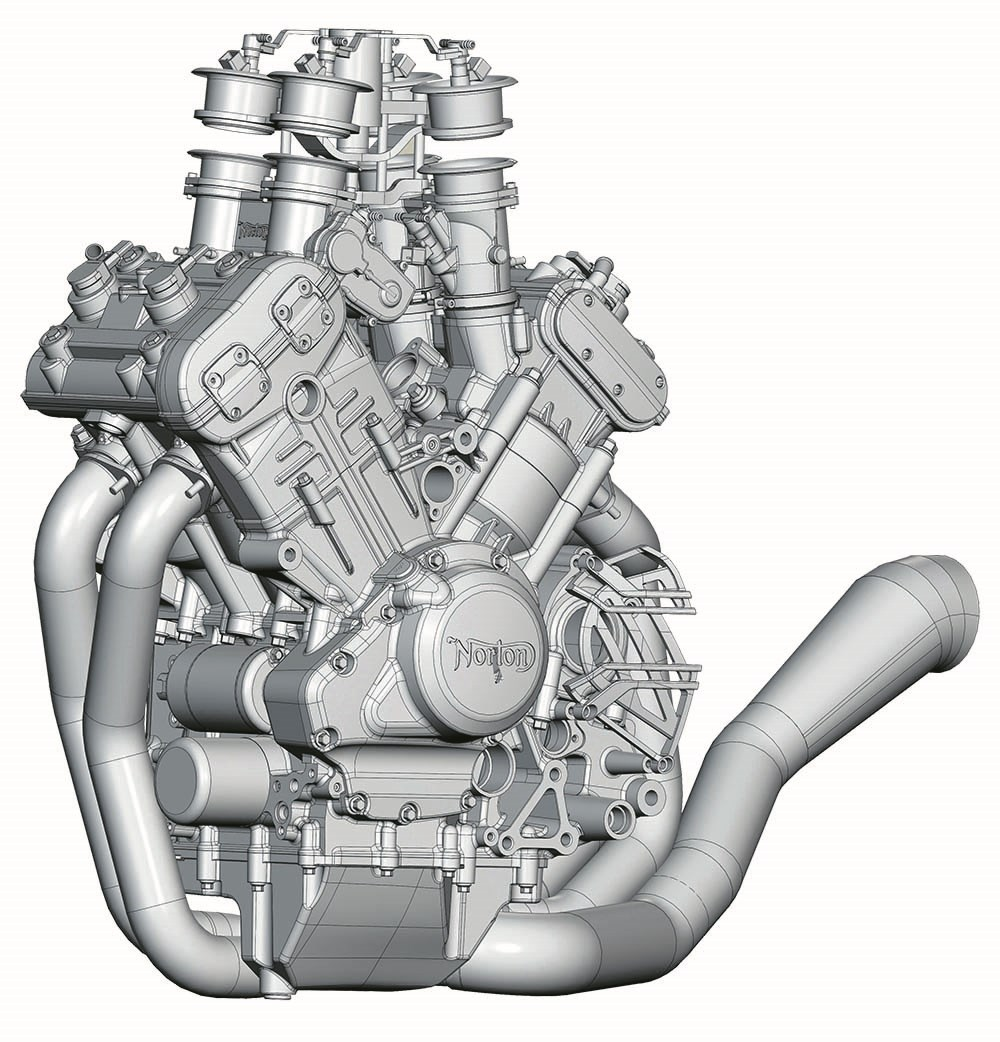 the motor compresses air and fuel at 13 6:1 compression ratio in cylinders  splayed out in a 72 degree v-angle, perfectly splitting the compromise  between